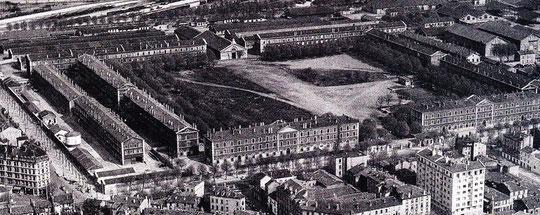 le quartier militaire vers 1841