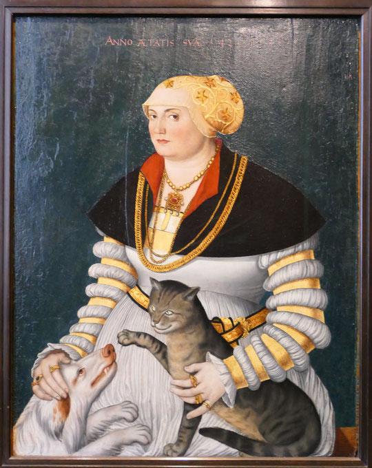 Hans Asper : portrait de Cleophea Krieg von Bellikon, 1538