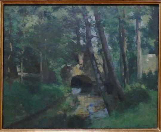 Camille Pissarro : la petit pont, Pontoise, 1875