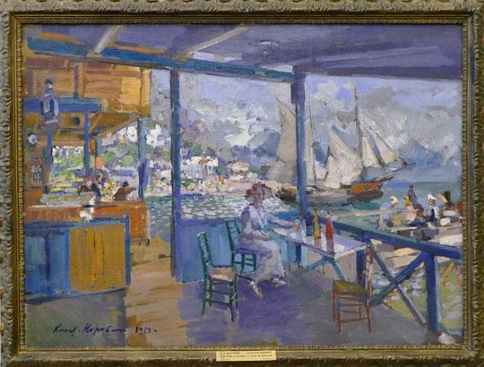 Konstantin Korovin (1861-1939) : embarcadère à Gurzuf