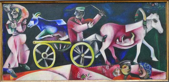 M. Chagall : le marchand de bestiaux, 1912