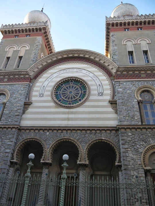La Grande synagogue de Turin, place Primo Levi, photo Adrian Yekkes
