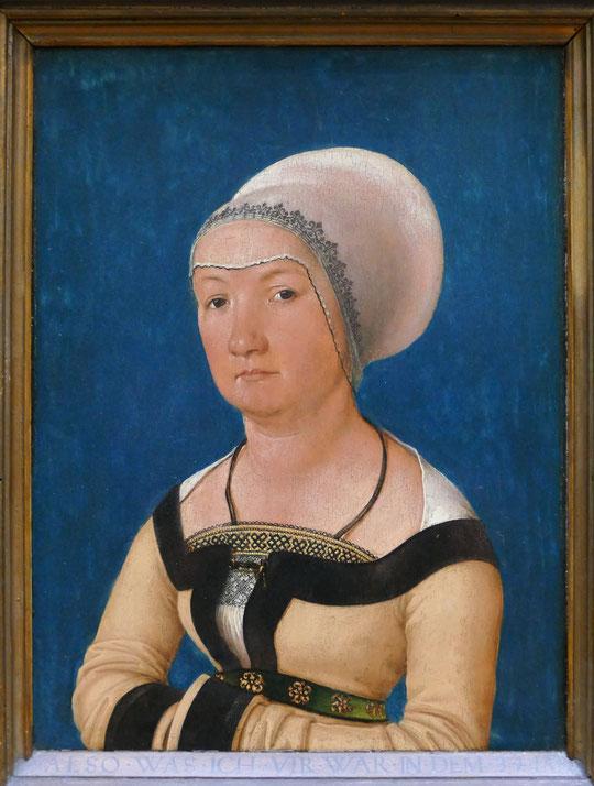 Hans Holbein l'ancien : portrait de l'épouse de Jörg Fischer âgée de 34 ans