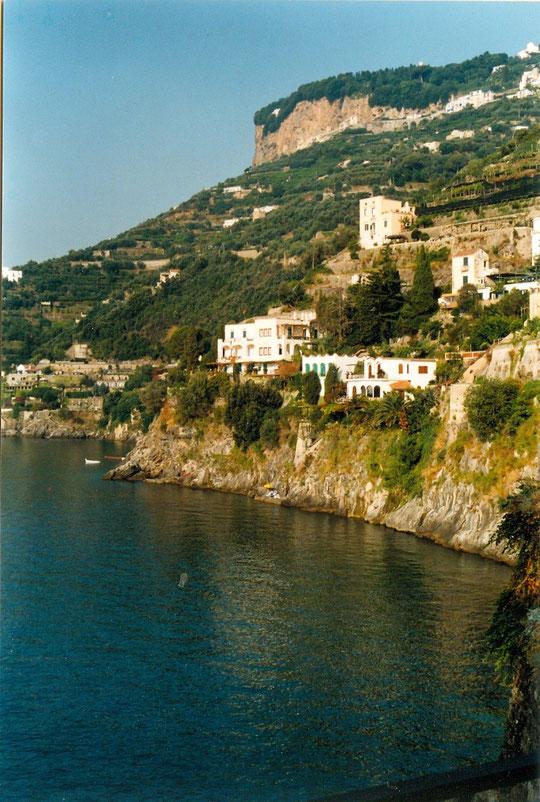 un bout de la côte Amalfitaine depuis notre terrasse