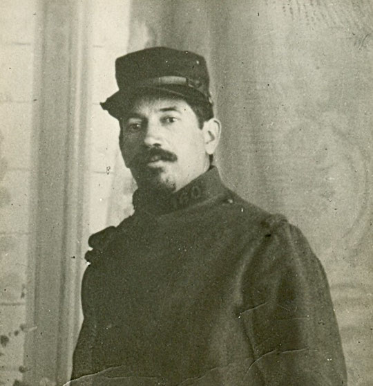 Moïse Flacs 1914 ou 1915 en uniforme du 160e RI