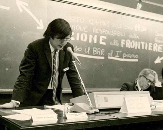 1969 congrès européen avec Eugène Descamps