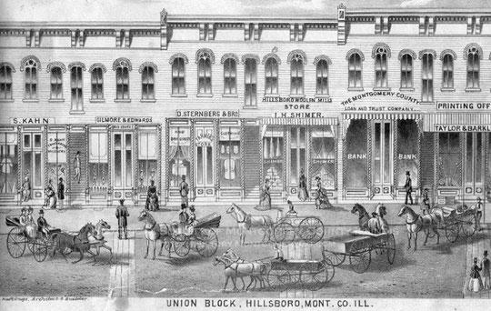 Deux vues de Hillsboro dans la collection de le Société historique du Comté de Montgomery