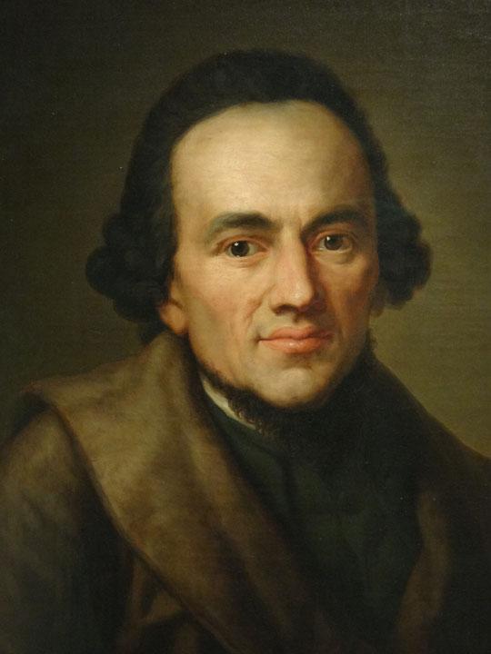 Moses Mendelssohn (1729-1786) par August Theodor Kaselowsky (1810-1890) d'après Anton Graff