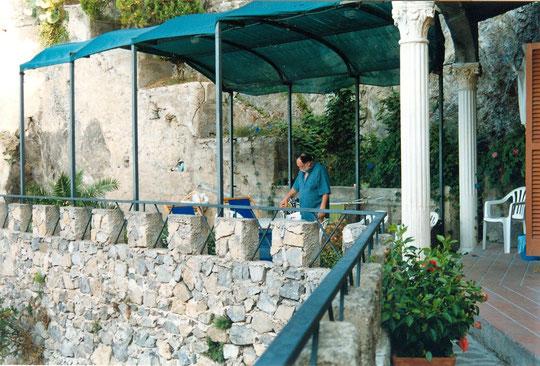 Sur la terrasse de notre maison près d'Amalfi