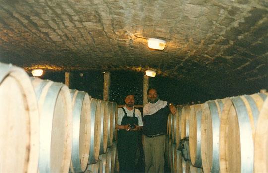 Avec Joseph Roty dans sa cave de Gevrey-Chambertin