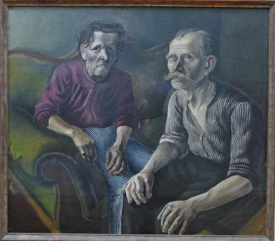 Otto Dix : portrait des parents de l'artiste, 1921