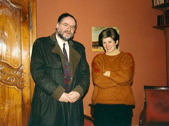 Avec Muryel Simon à Strasbourg en 1993
