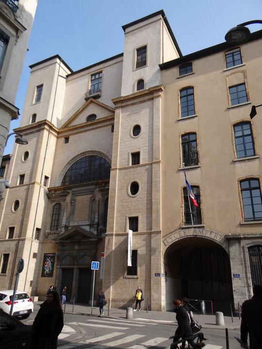 Le lycée Ampère, rue de la Bourse où je suis allé en pensant à d'autres choses en 1966-1967