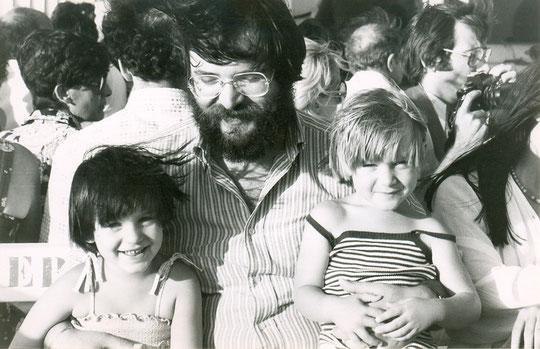 1979, avec Alexandra et Boris sur le bateau vers le Château d'If