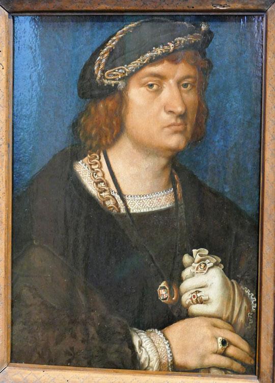 Hans Holbein l'ancien (1465-1524) : portrait d'un homme