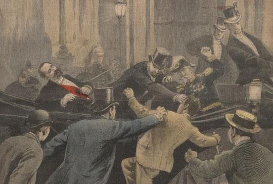 Caserio vient d'assassiner le Président Sadi Carnot