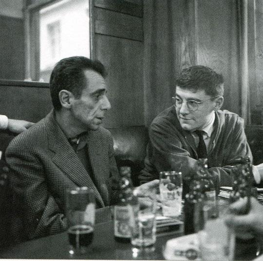 Roger Planchon avec Arthur Adamov en 1957