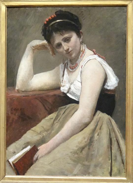 Jean Baptiste Camille Corot : lecture interrompue