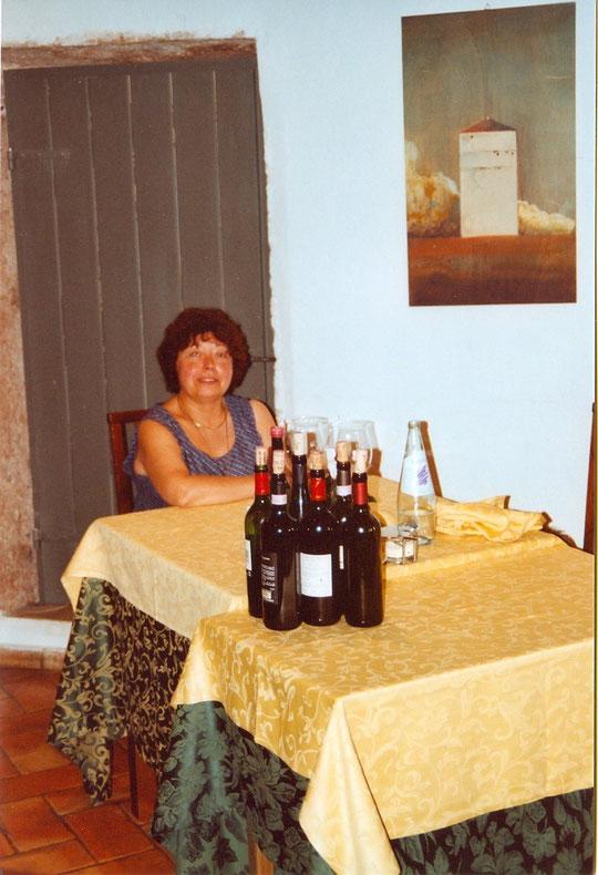Annie et quelques bouteilles d'Amarone