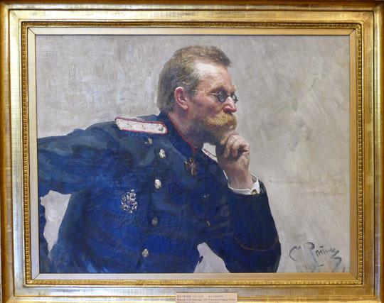 Ilya Repin (1844-1930) : portrait d'Evgeny Pavlov