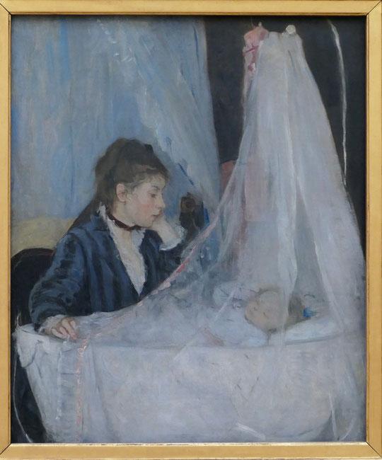 Berthe Morisot : le berceau, 1872