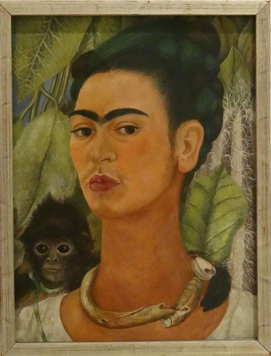 Frida Kahlo : auto-portrait au singe