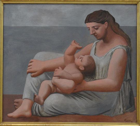 Pablo Picasso : mère et enfant