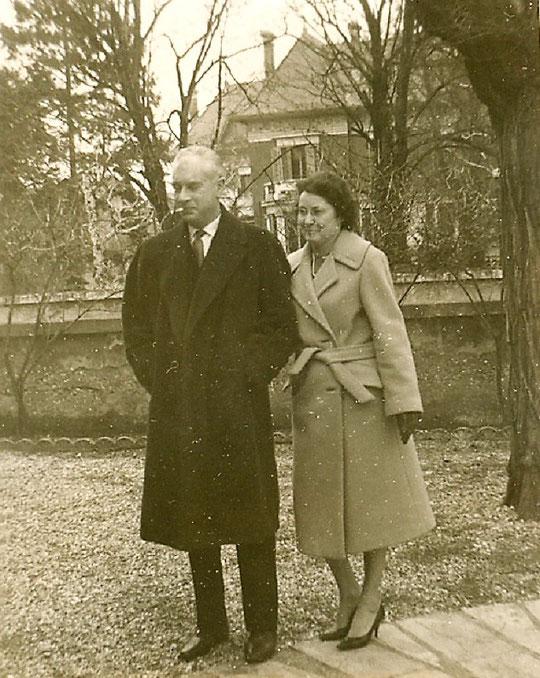 Roland et Jacqueline chez eux vers 1965