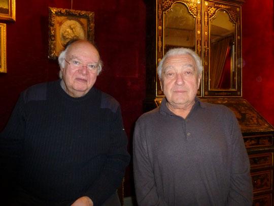 Avec François Biancarelli le 7 janvier 2015 dans la galerie de sa fille