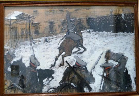 Valentin Serov (1865-1911) : Soldats, grands courageux, quelle est votre gloire maintenant ? (1905)