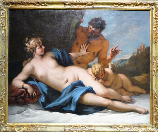 Sebastiano Ricci : Vénus et satyre, vers 1720