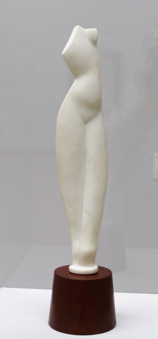 Alexander Archipenko : flat torso, marbre, 1914