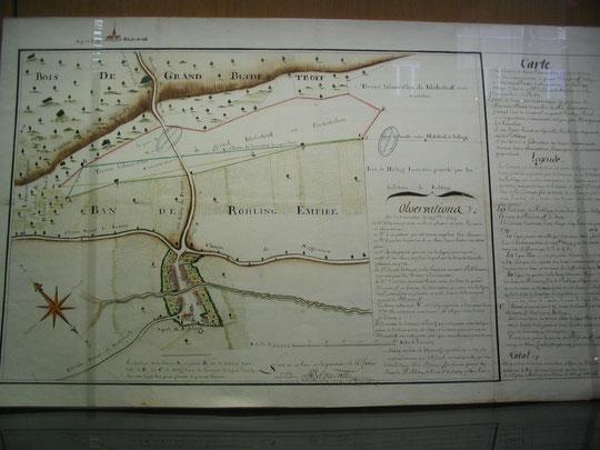 Rouhling en 1759 (Archives départementales de la Moselle)