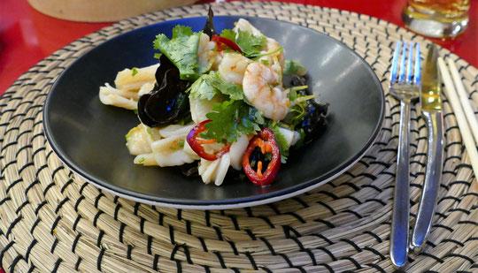 une salade de fruits de mer