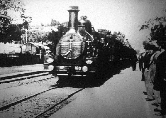 L'arrivée du train en gare de La Ciotat