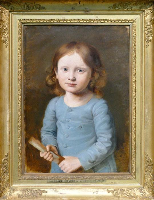 J.F.W. Müller : portrait de Karl von Müller enfant, 1816