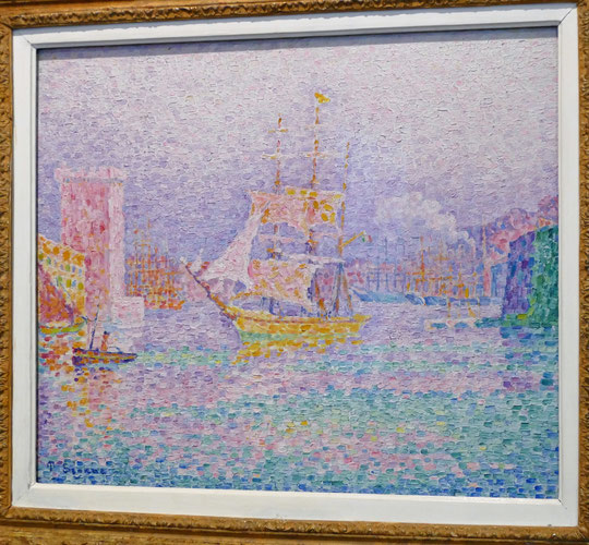 Paul Signac (1863-1935) : port de Marseille