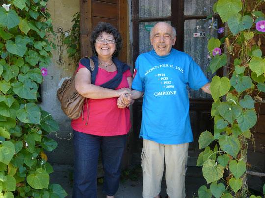 Avec Romano Levi en août 2007