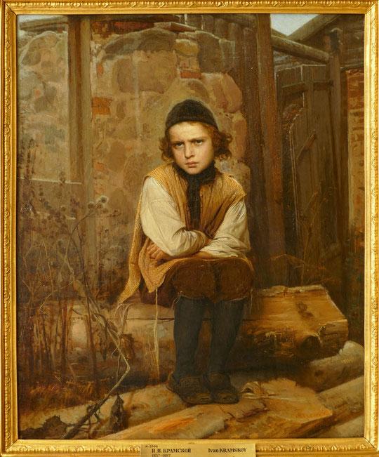 Ivan Kramskoy (1837-1887) : garçon juif indigné