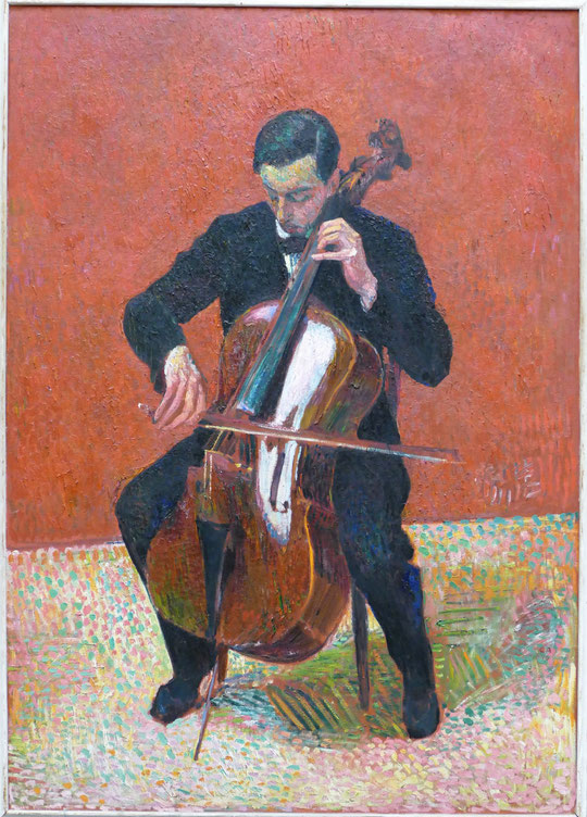 Cuno Amiet : le contrebassiste, 1916
