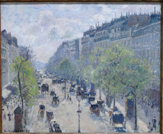 Camille Pissarro : le boulevard Montmartre, printemps 1897