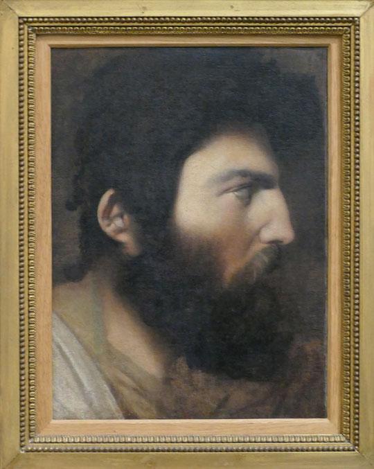 J.A.D. Ingres : profil d'homme barbu, 1807-1808