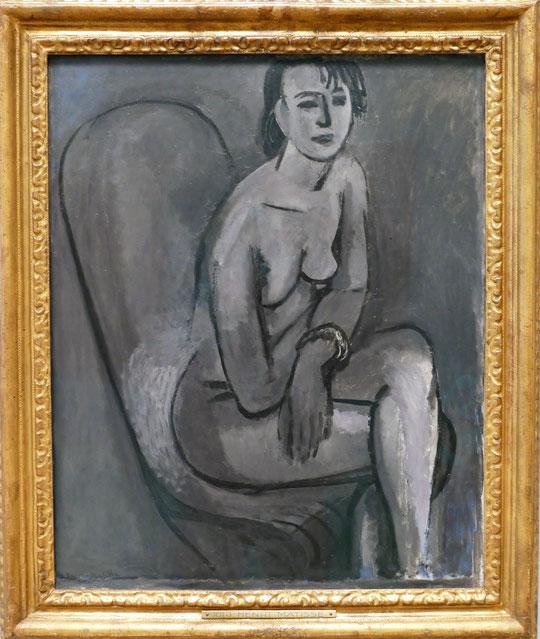 H. Matisse : nu gris avec bracelet, 1913-14