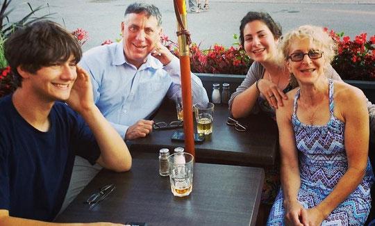 Paul, David, Rebecca et Carla en vacances été 2014