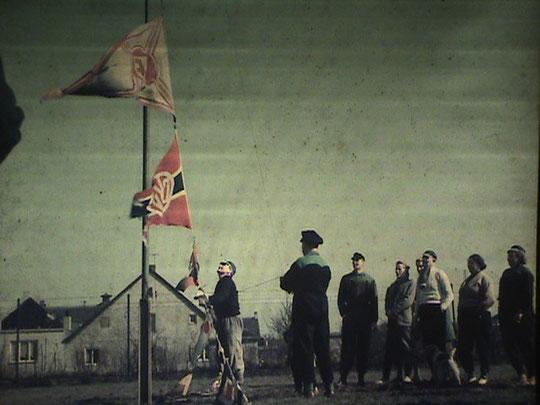 Fahnenhissung 1958