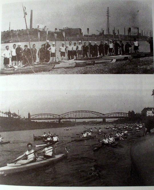 FWF-Anpaddeln Frühjahr 1929. Fotos: Hans am Weg