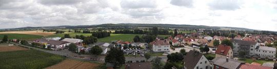 Panorama Echzell/Hessen aus hebebühne ca. 30 m hoch