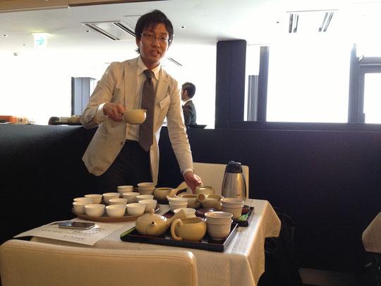 こんなにたくさんの茶器用意してくださってよかったです。ありがとうございました。