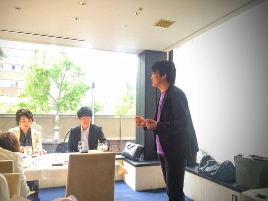 ミニセミナー講師の 内田宙大さん。