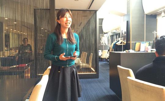 セミナー講師の石崎妙子さん。
